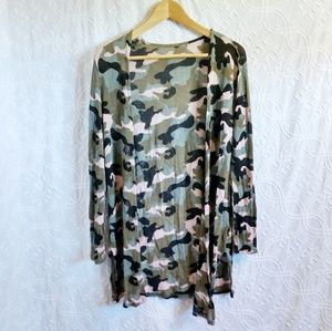 Camo light cardigan